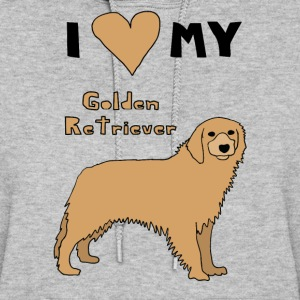 i heart my golden retriever Hoodies - Women's Hoodie