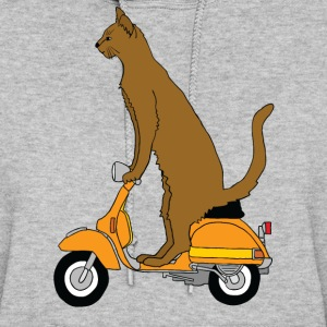 cat on motor scooter Hoodies - Women's Hoodie
