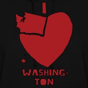 i heart Washington (red) Hoodies - Women's Hoodie