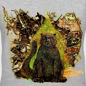 Behemoth the Cat (from The Master and Margarita) - Women's V-Neck T-Shirt