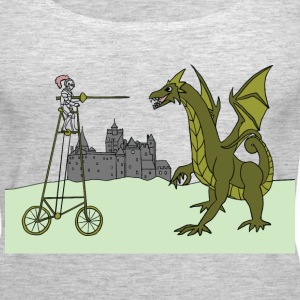 tall bike rider slaying dragon Tanks - Women's Premium Tank Top