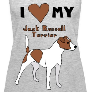 i heart my jack russell terrier Tanks - Women's Premium Tank Top