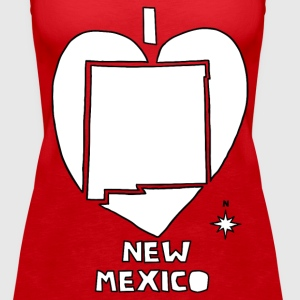 i heart New Mexico (red) Tanks - Women's Premium Tank Top