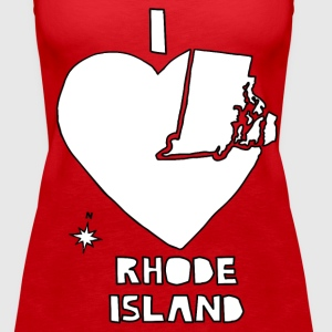 i heart Rhode Island (red) Tanks - Women's Premium Tank Top