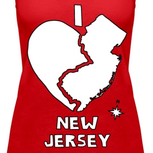 i heart New Jersey (red) Tanks - Women's Premium Tank Top