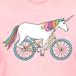 unicorn riding bike Women's T-Shirts - Women's T-Shirt