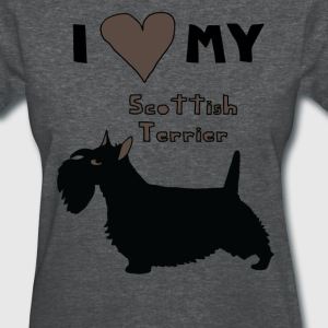 i heart my scottish terrier Women's T-Shirts - Women's T-Shirt