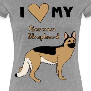 i heart my german shepherd Women's T-Shirts - Women's Premium T-Shirt