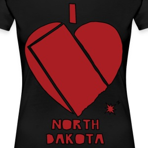 i heart North Dakota (red) Women's T-Shirts - Women's Premium T-Shirt