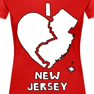 i heart New Jersey (red) Women's T-Shirts - Women's Premium T-Shirt