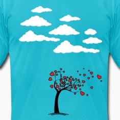 Heart Tree (Heart Tree - Flying Hearts Couples De T-Shirts