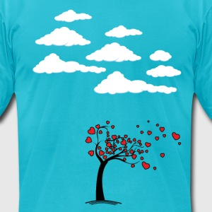 Heart Tree (Heart Tree - Flying Hearts Couples De T-Shirts - Men's T-Shirt by American Apparel