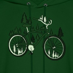 pine bike Hoodies