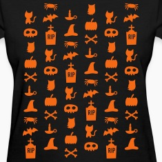 Chic Halloween Pattern Women's T-Shirts