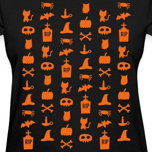 Chic Halloween Pattern Women's T-Shirts - Women's T-Shirt