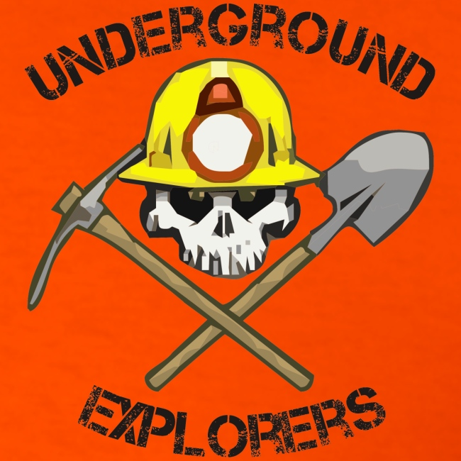 Underground Explorers Orange Logo Tee with Flag