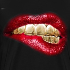 sexy lips gold tooth