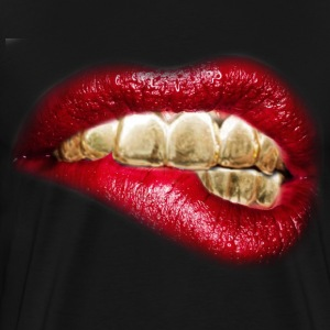 sexy lips gold tooth - Men's Premium T-Shirt
