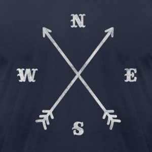 Hipster compass / crossed arrows / retro look T-Shirts - Men's T-Shirt by American Apparel