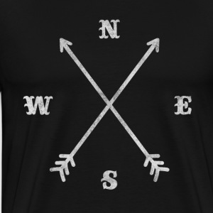 Hipster compass / crossed arrows / retro look T-Shirts - Men's Premium T-Shirt
