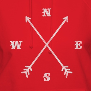 Hipster compass / crossed arrows / retro look Hoodies - Women's Hoodie