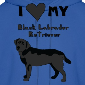 i heart my black labrador retriever Hoodies - Men's Hoodie