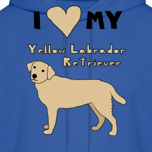 i heart my yellow labrador retriever Hoodies - Men's Hoodie