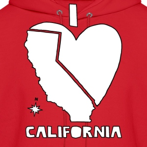 i heart California (white) Hoodies - Men's Hoodie