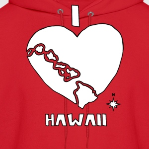 i heart Hawaii (white) Hoodies - Men's Hoodie