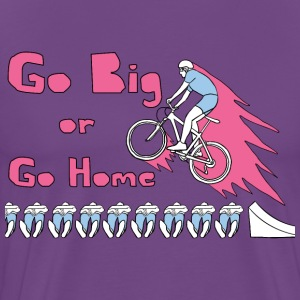 go big or go home bike jump T-Shirts - Men's Premium T-Shirt