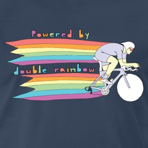 powered by double rainbow T-Shirts - Men's Premium T-Shirt