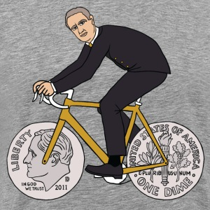 FDR on bike with dime wheels T-Shirts - Men's Premium T-Shirt