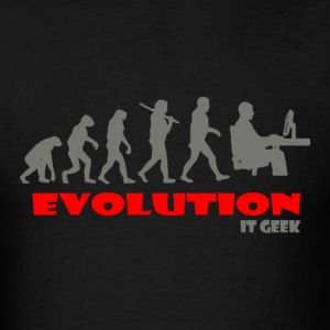 IT geek ape of Evolution - Men's T-Shirt