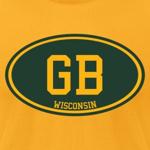 GB Wisconsin T-Shirts - Men's T-Shirt by American Apparel