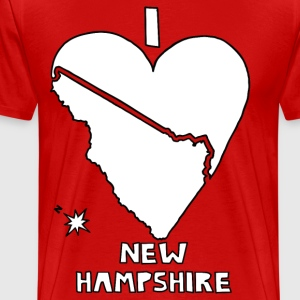 i heart New Hampshire (red) T-Shirts - Men's Premium T-Shirt