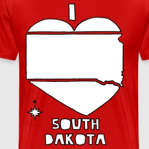 i heart South Dakota (red) T-Shirts - Men's Premium T-Shirt