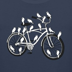 bird bike with white doves Men