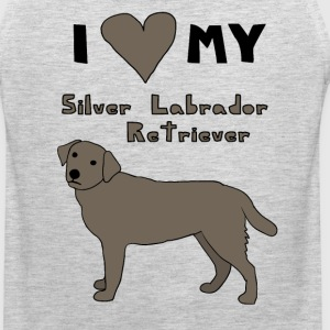i heart my silver labrador retriever Men - Men's Premium Tank