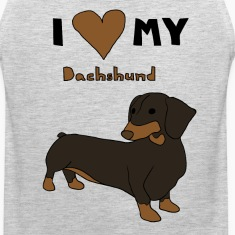 i heart my dachshund Men