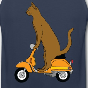 cat on motor scooter Men - Men's Premium Tank
