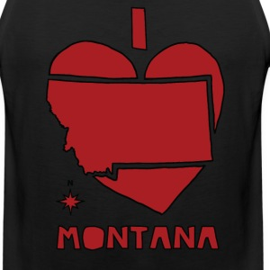 i heart Montana (red) Men - Men's Premium Tank