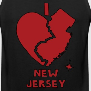 i heart New Jersey (red) Men - Men's Premium Tank