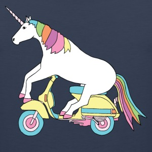 unicorn riding motor scooter Men - Men's Premium Tank