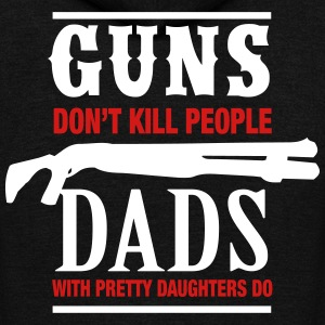 Guns Don't Kill Dads With Pretty Daughters Do Zip Hoodies & Jackets - Unisex Fleece Zip Hoodie by American Apparel