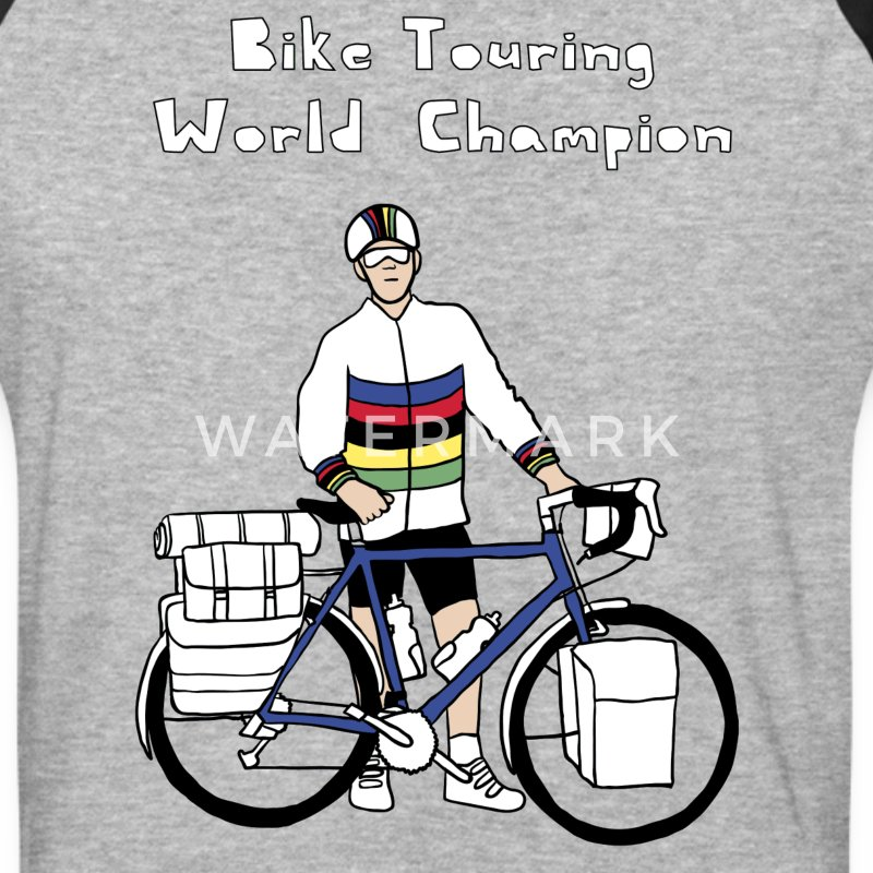 Bike Touring World Champion T-Shirts - Baseball T-Shirt