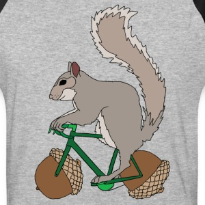 Squirrel on Bike with Accord Wheels T-Shirts - Baseball T-Shirt