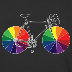 bike with color wheels T-Shirts - Baseball T-Shirt