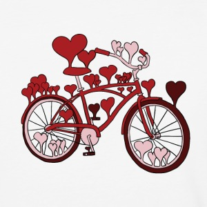 hearts on bike T-Shirts - Baseball T-Shirt