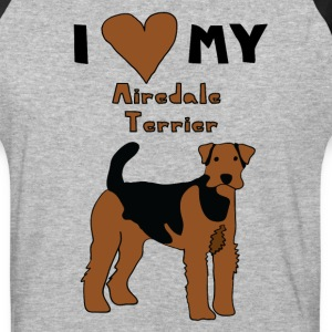 i heart my airedale terrier T-Shirts - Baseball T-Shirt