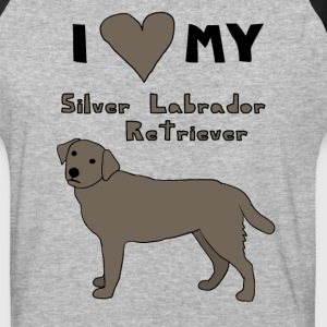 i heart my silver labrador retriever T-Shirts - Baseball T-Shirt